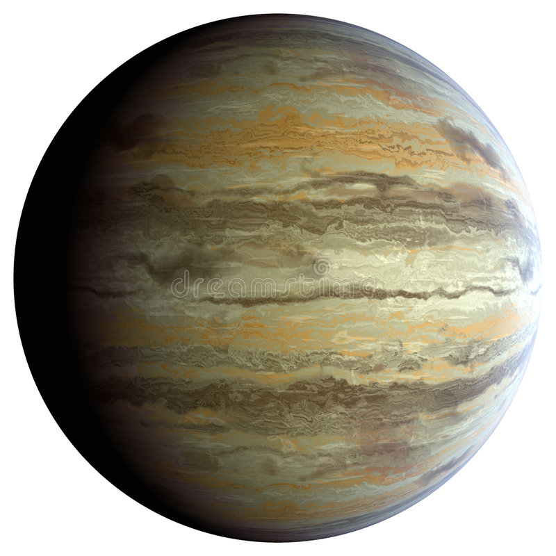 Download Gas giant planet stock illustration. Image of texture - 8660575