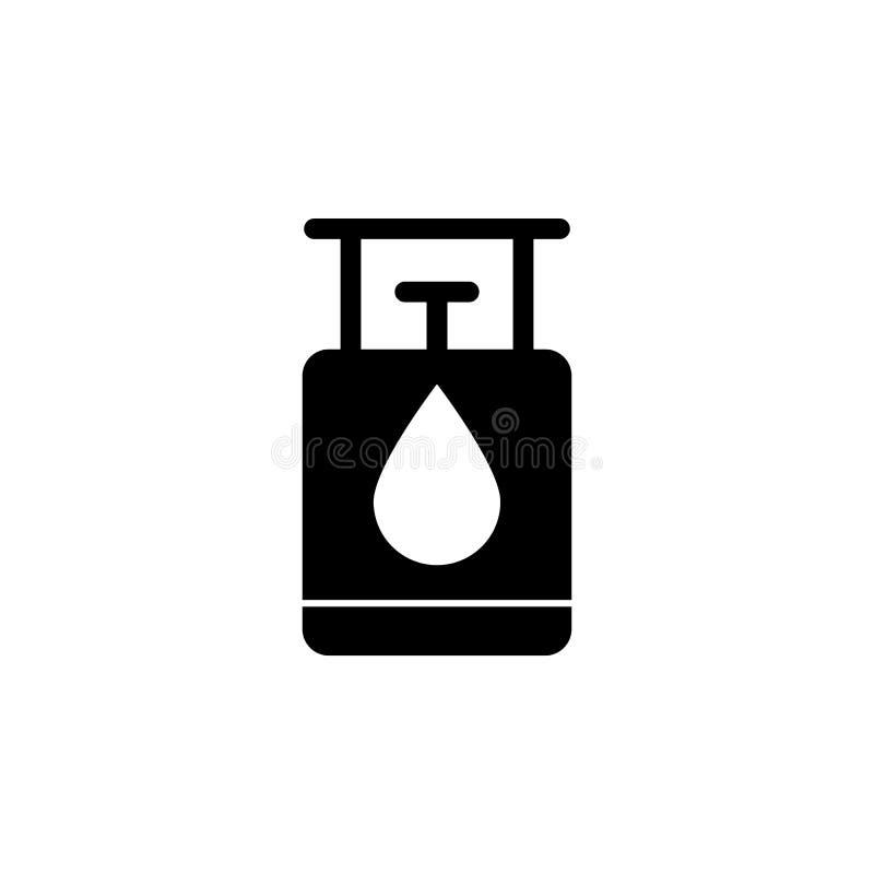 Gas, globo, icono del aceite en el fondo blanco Puede ser utilizado para la web, logotipo, app móvil, UI UX stock de ilustración