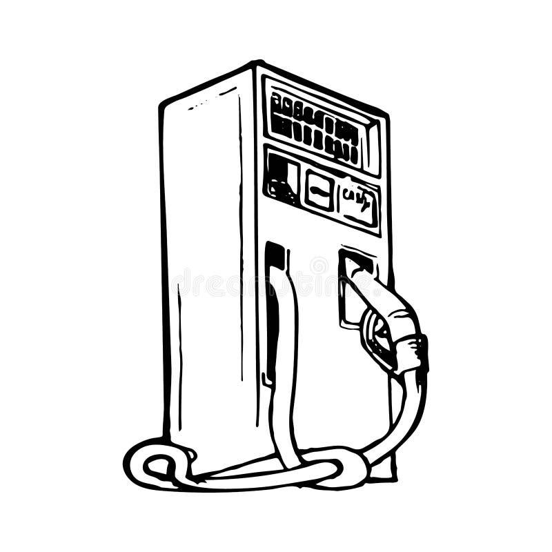 Gas het vullen automaat royalty-vrije illustratie