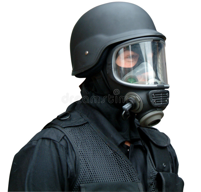 gas hjälmmaskeringen fotografering för bildbyråer