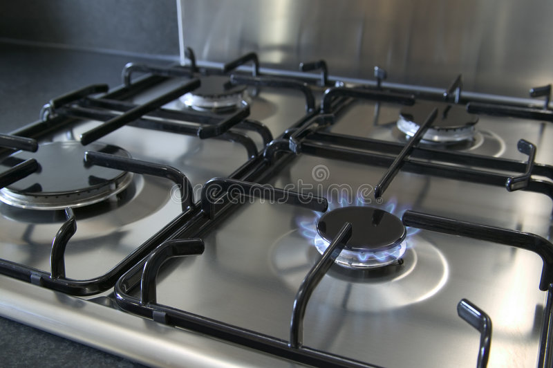 Gas hob royalty free stock image