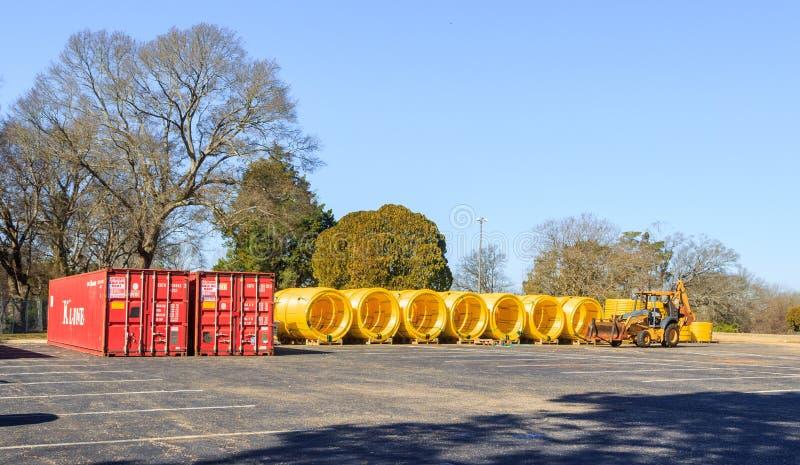 Gas HoofddieLijnen in Montgomery, Alabama worden opgevoerd royalty-vrije stock fotografie