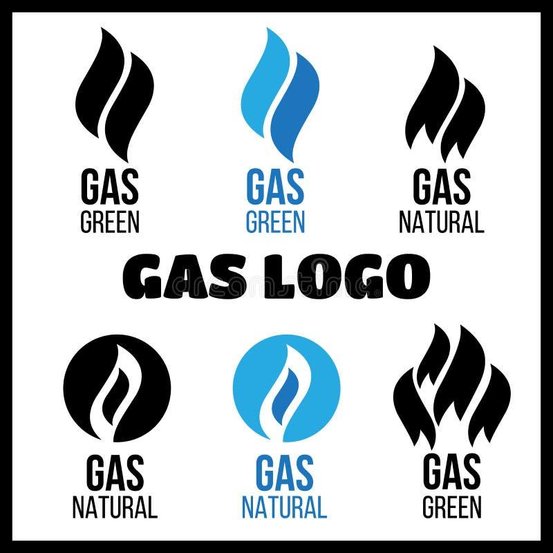 Gas Industry Logos. Energy Green Fuel Logo Stock