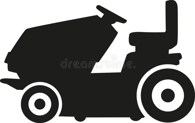 Gas lawn mower vector illustration