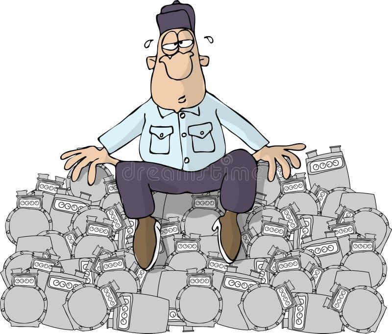 Download Gas-Mann stock abbildung. Illustration von männer, komisch - 31776