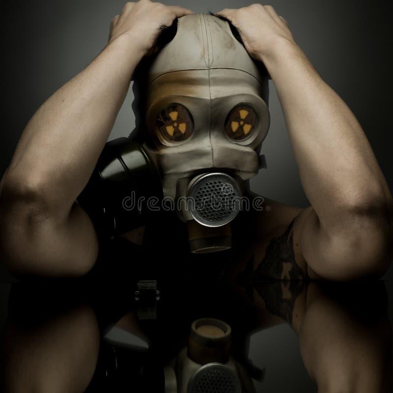 Gas-mascherina immagine stock