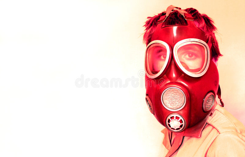 Gas-mascherina fotografia stock libera da diritti