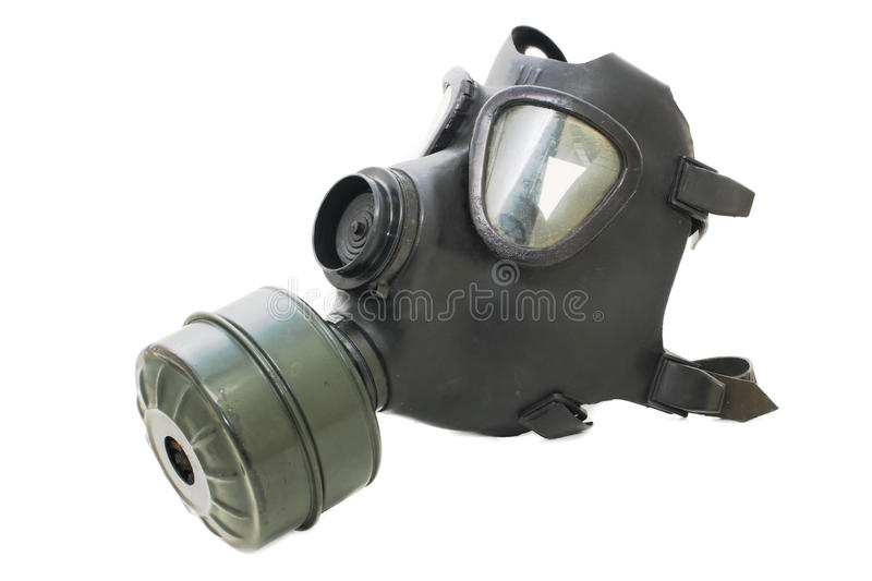 Gas Mask. Isolated on white background royalty free stock image