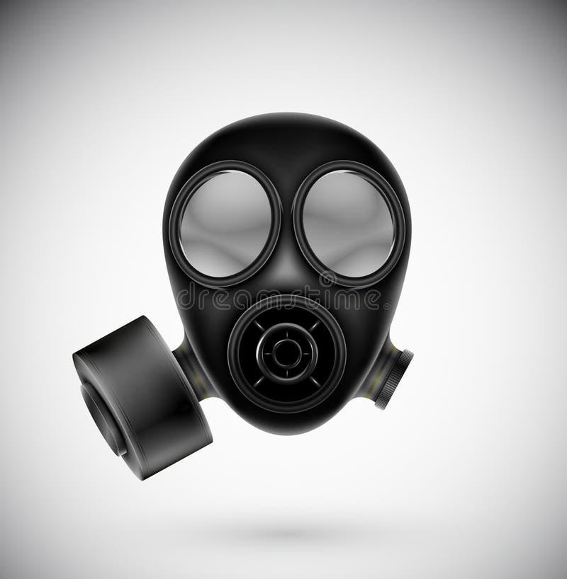 Download Gas mask stock vector. Illustration of equipment, black - 28236932