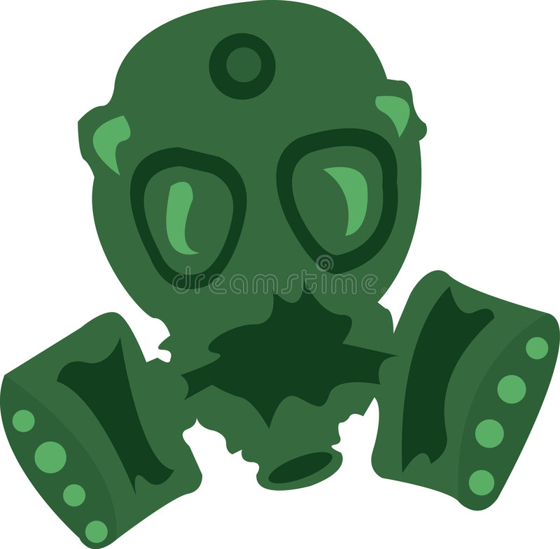 Download Gas Mask stock illustration. Image of personal, defense - 3524109