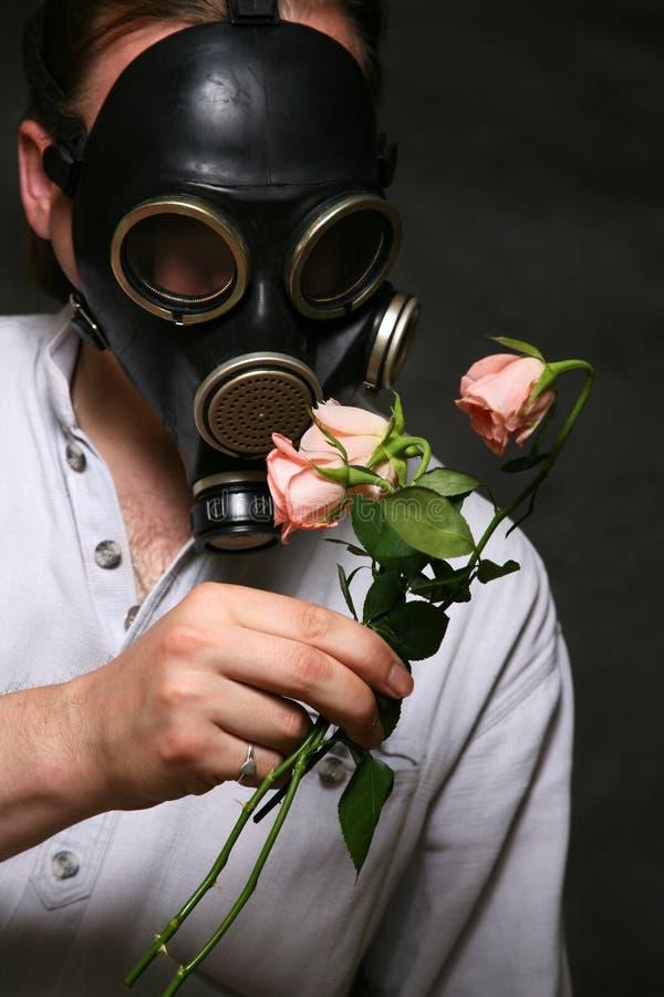 Gas mask royalty-vrije stock afbeeldingen