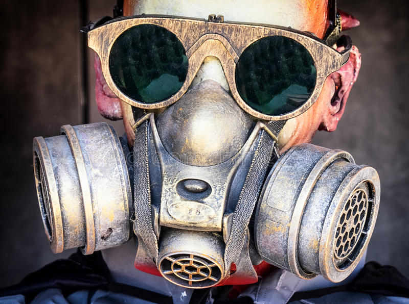 Gas mask fotografia stock