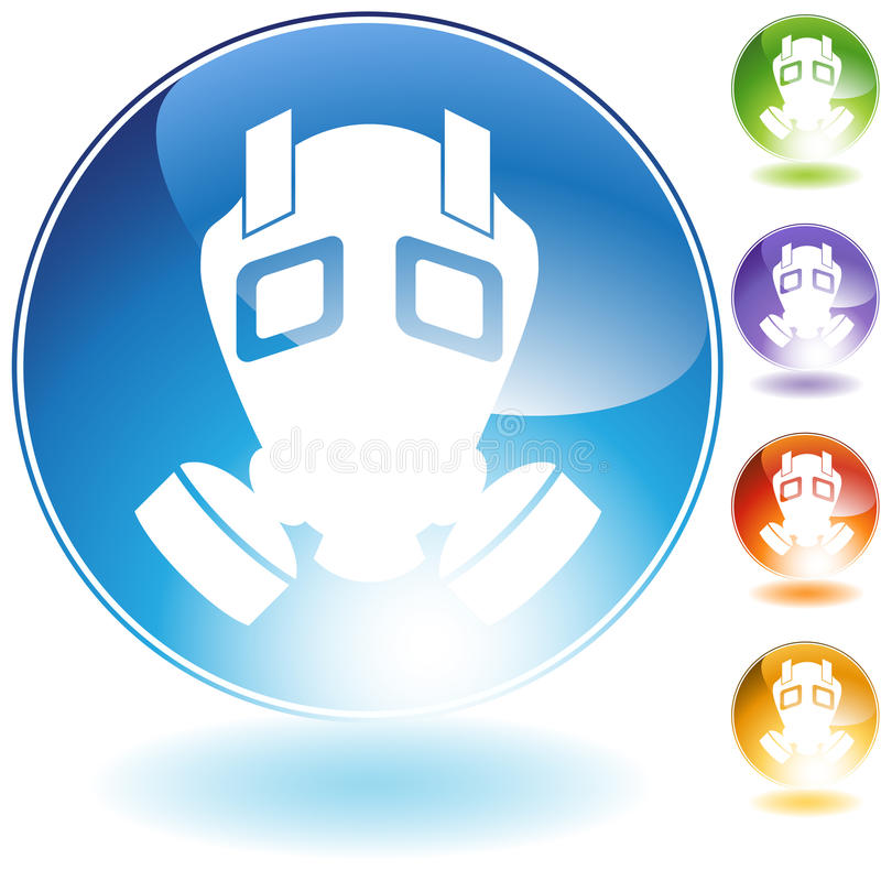Download Gas Mask Crystal Icon stock vector. Image of poison, icon - 15975349