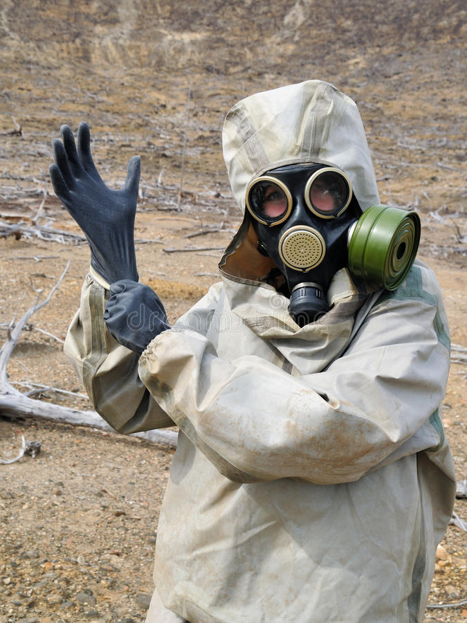 Download Gas Mask, Gloves, The Person Stock Photo - Image: 15845140