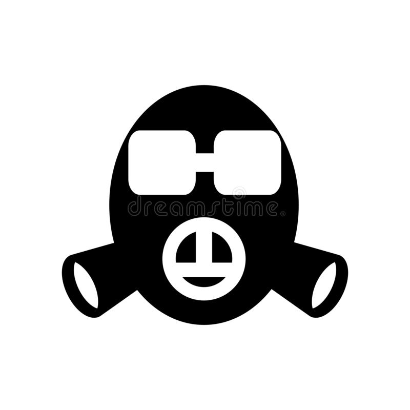 Gas mask icon vector isolated on white background, Gas mask sign vector illustration