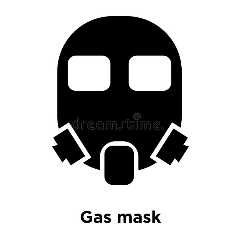 Gas mask icon vector isolated on white background, logo concept vector illustration
