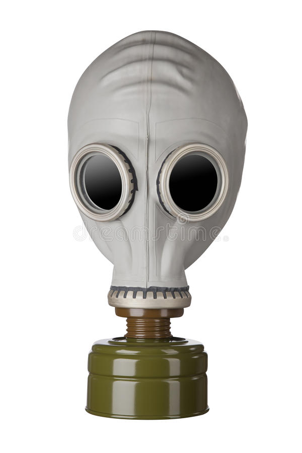 Gas mask. Isolated on white background stock photo