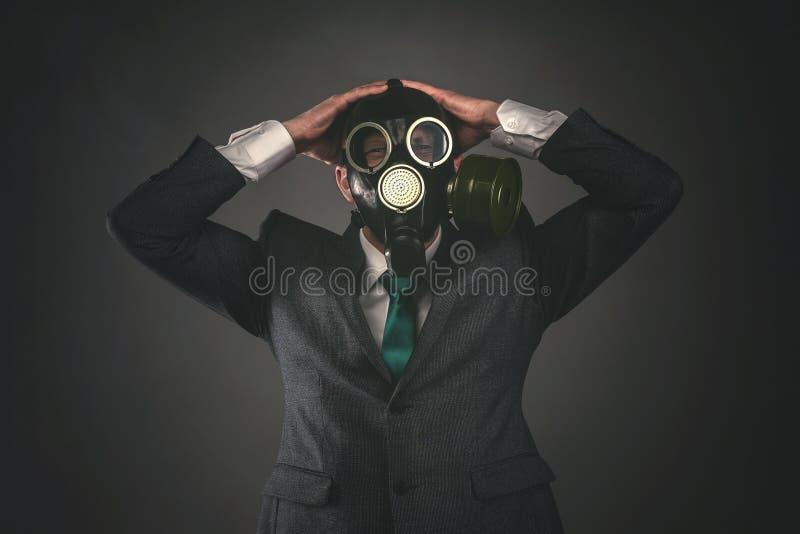Gas mask immagini stock