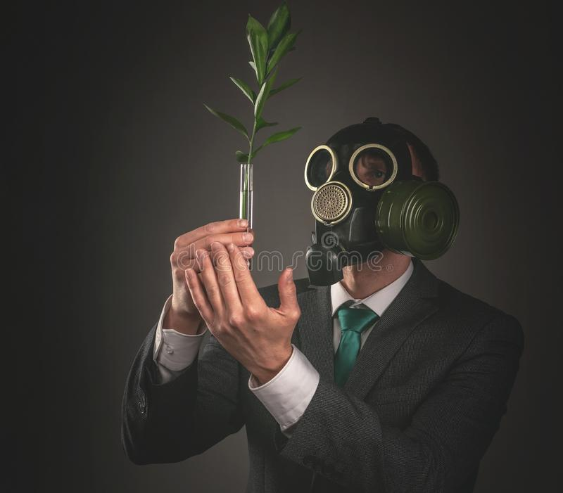 Gas mask stockbilder