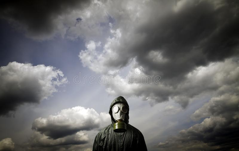 Gas mask Overlevingsthema stock fotografie