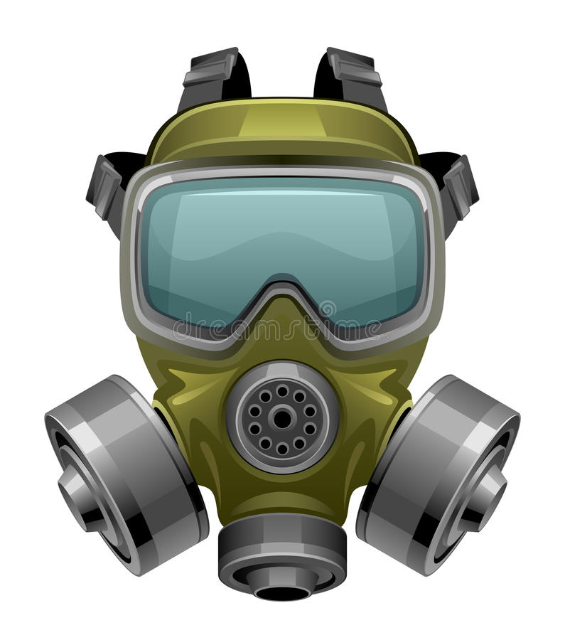 Gas mask royalty free illustration