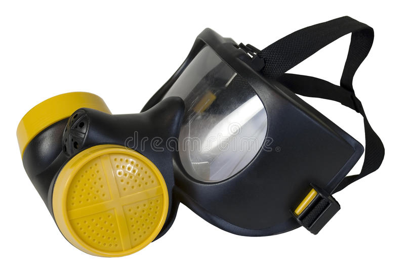 Gas Mask with Yellow Filters royalty free stock photo