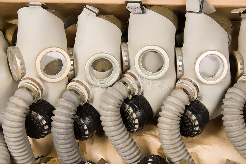 Gas-masks stock photography