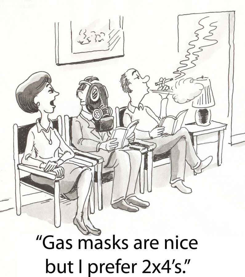 Download Gas masks stock illustration. Image of funny, mask, area - 23630744