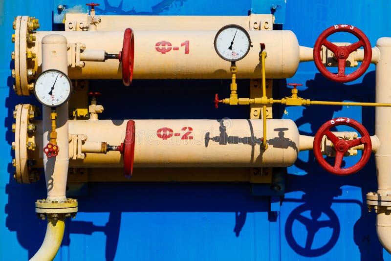 Gas metende post royalty-vrije stock afbeeldingen