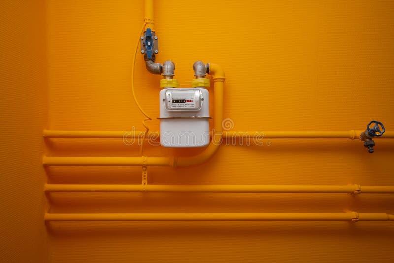 Gas-meter royalty-vrije stock afbeeldingen