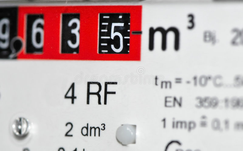 Download Gas Meter (Europe) stock image. Image of litres, close - 5715027