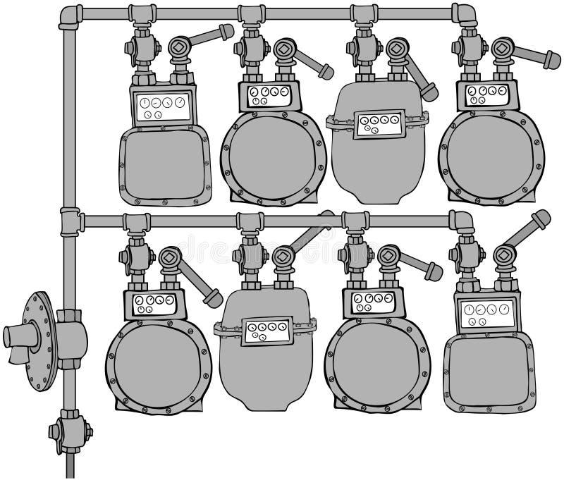 Download Gas Meter Header stock illustration. Image of header - 15957906