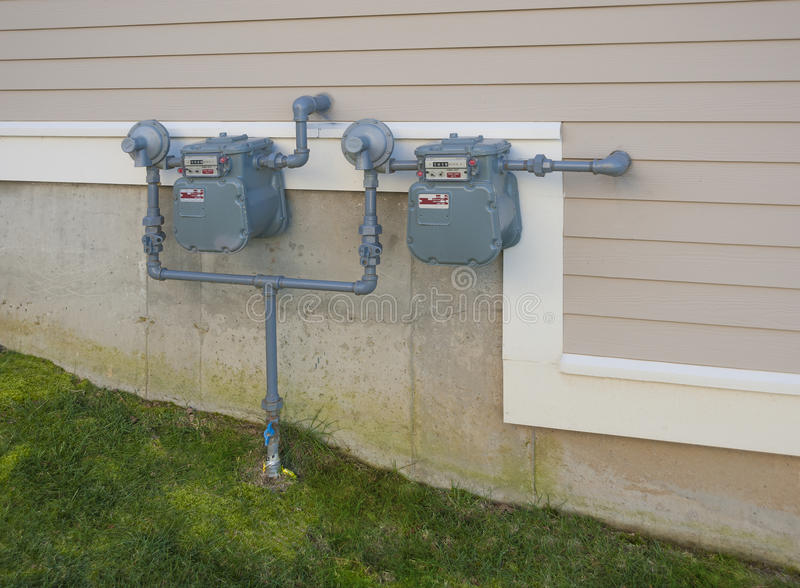 Download Gas meters stock image. Image of energy, economy, building - 27896705