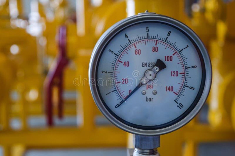 Gas natural del indicador de presión imagen de archivo libre de regalías