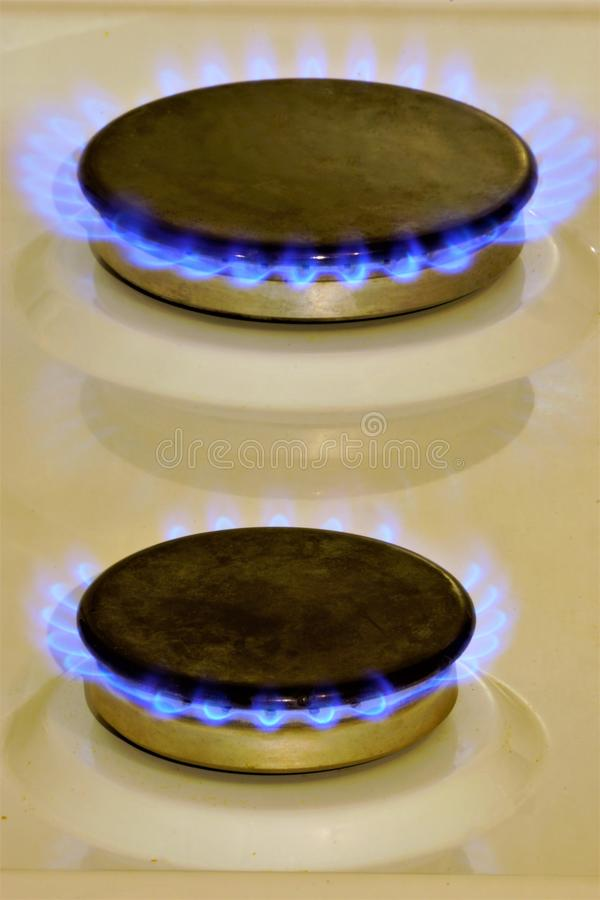 Gas is a natural fuel. Gas is formed in the bowels of the Earth by decomposition of organic substances. It is eco-friendly, cheap royalty free stock images