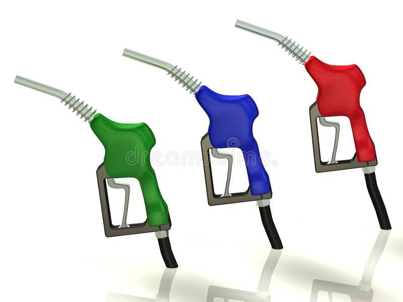 Gas nozzle stock illustration