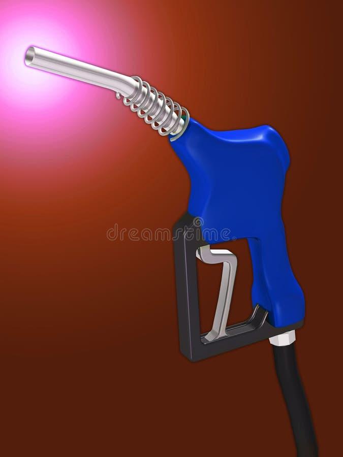Gas nozzle royalty free illustration