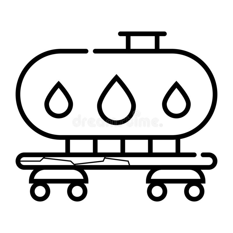 Gas och olje- behållare royaltyfri illustrationer