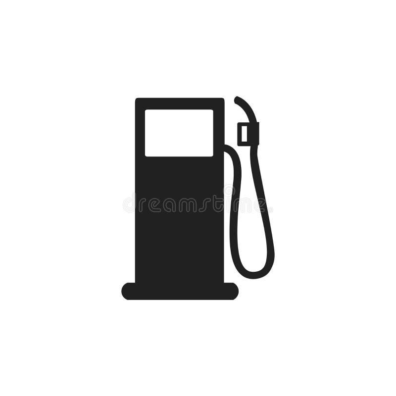 Gas- oder Tankstelleikone Tanksäule mit Düse Vektorabbildung getrennt auf weißem Hintergrund vektor abbildung