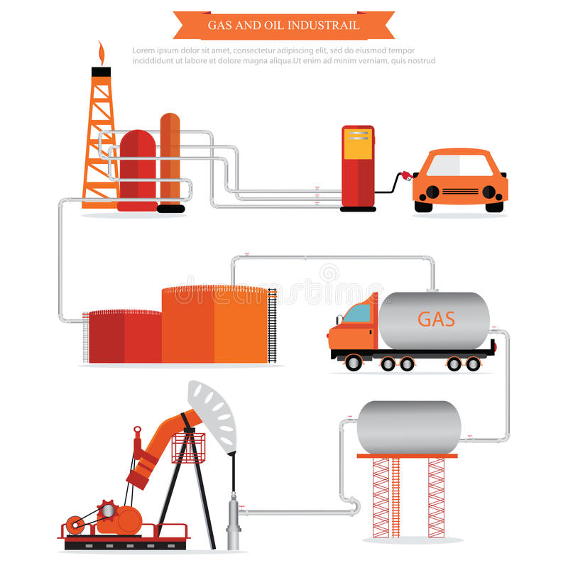 Gas and oil industrial infographic. vector illustration