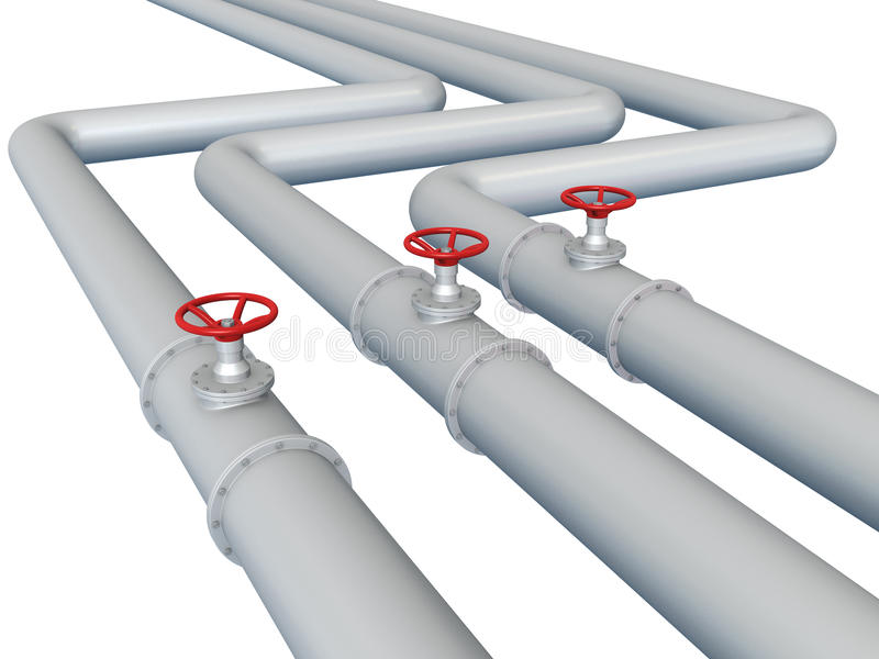 Gas or oil pipeline. Isolated on white background vector illustration