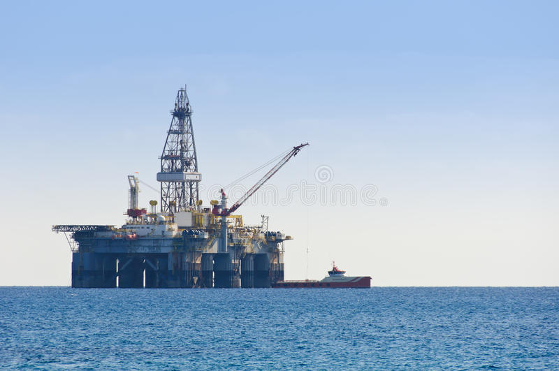 Gas & Oil rig stock image