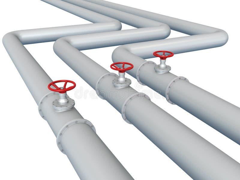 Gas of oliepijpleiding vector illustratie