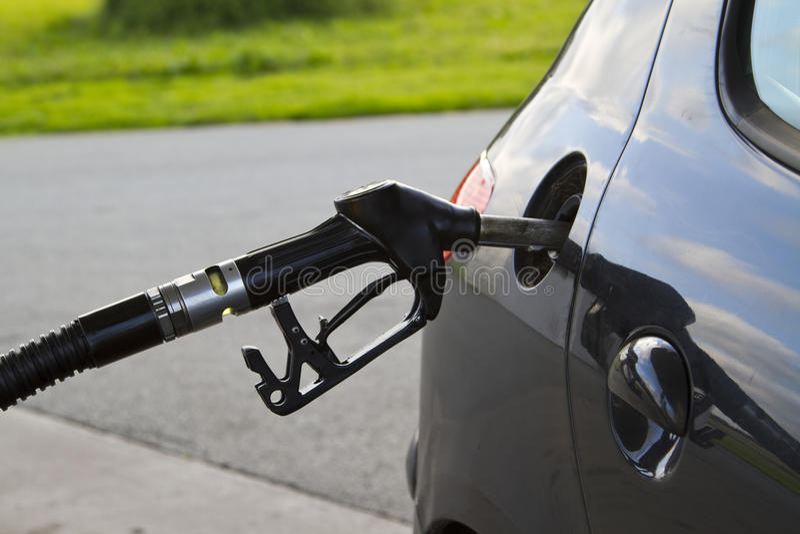 Gas petrol filling station stock photos