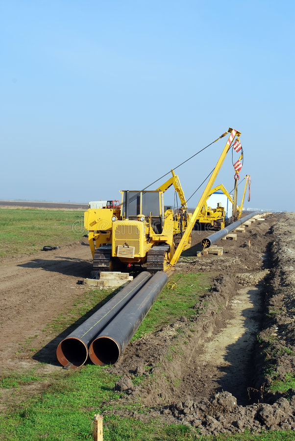 Download Gas pipeline stock photo. Image of manifold, caterpillar - 7108578