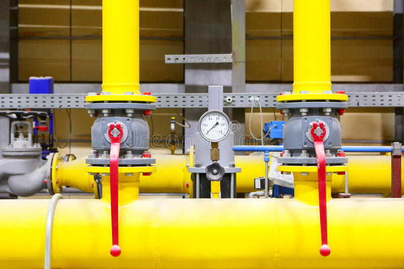 Gas pipeline.Industrial business. stock photo