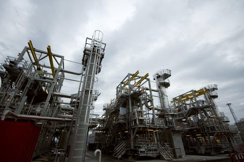 Gas plant. The norwegian gas plant Ormen Lange. Located on the Island of Aukra, northwestern Norway stock photo