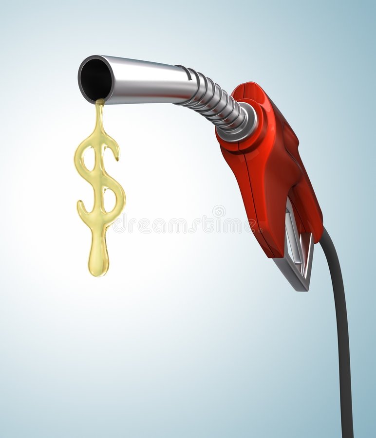 Gas Prices. Drop of gas in the format of the dollar sign