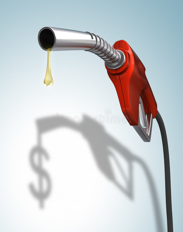 Gas Prices royalty free illustration