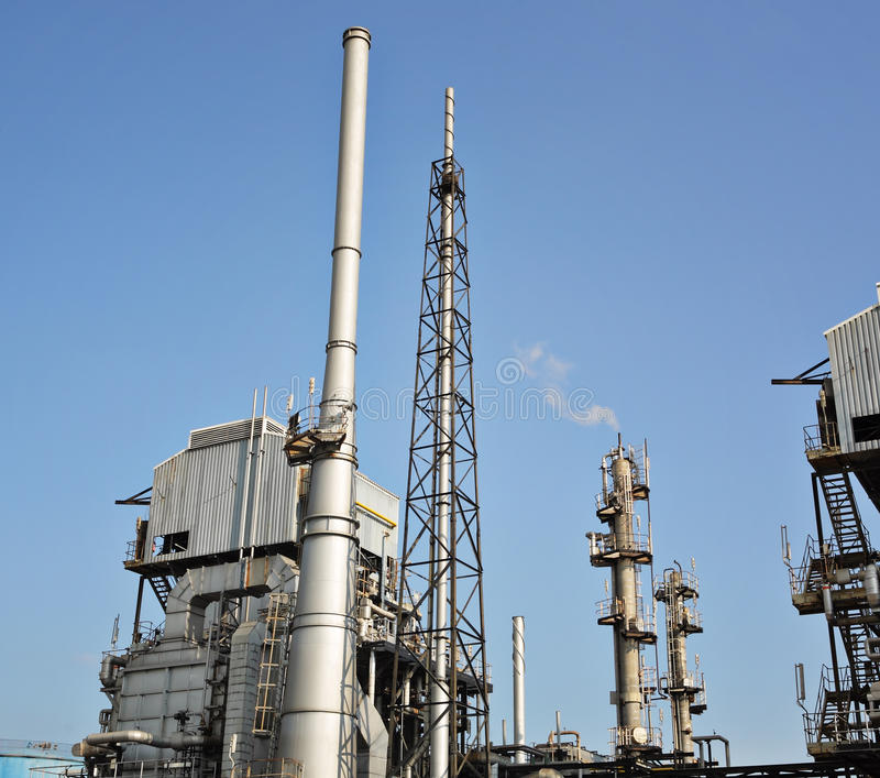 Gas processing factory stock image